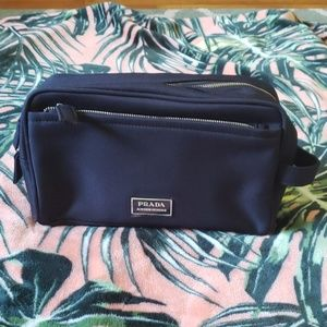 PRADA Navy Blue Travel Toiletry Bag NEW